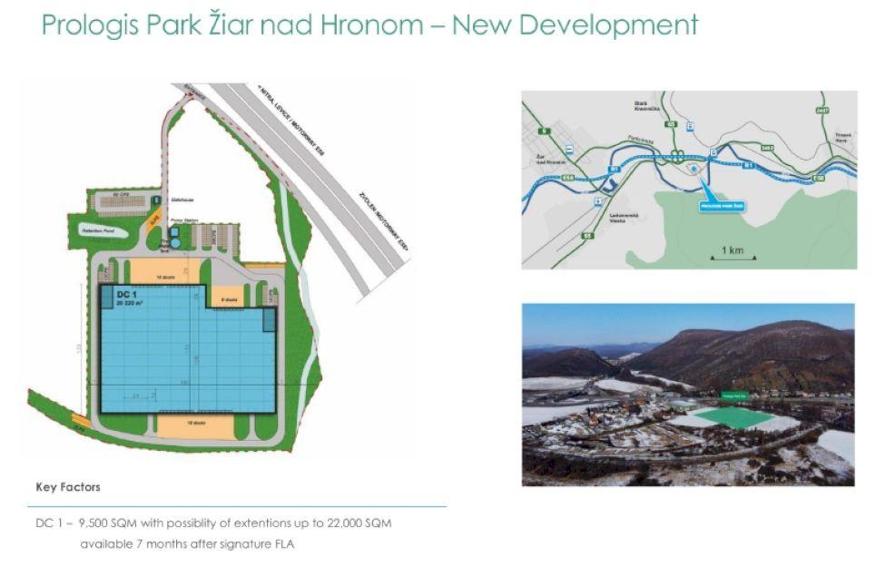 Prologis logistics park Ziar (warehouse / halls / production